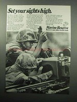 1987 U.S. Marine Reserve Ad - Set Your Sights High