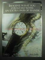 1987 Pulsar Galileo Watch Ad - An Extra Pair of Hands