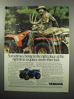 1987 Yamaha Moto-4 Four-Wheeler ATV Ad - More Than Luck