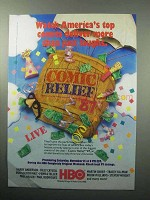 1987 HBO Comic Relief '87 Ad - America's Top Comics