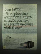 1987 Litton Microwave Ad - Planning A Trip to Orient