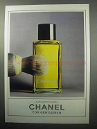 1987 Chanel A Gentleman's After Shave Ad