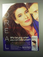 1987 L'Oreal Avantage Hair Color Ad - Why Be Gray?
