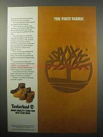 1987 Timberland Footwear Ad - The First Fabric