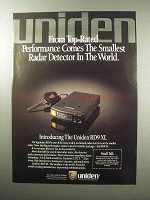 1987 Uniden RD9XL Radar Detector Ad - Performance