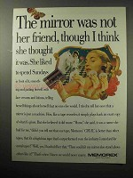 1987 Memorex CDX II Tape Ad - Mirror Was Not Her Friend