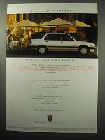 1987 Rover 213S Car Ad - Travel In Comfort