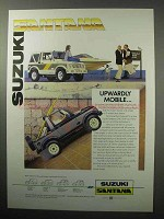 1987 Suzuki Santana SJ410 Truck Ad - Upwardly Mobile