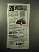 1987 Crane Cams Ad - Reliable Power - Bigfoot