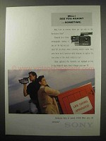 1987 Sony Handycam Auto Camera Ad - See Again?