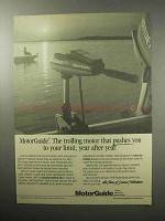 1987 MotorGuide Silencer 455 Outboard Motor Ad