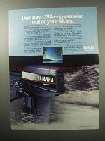 1987 Yamaha Outboard Motor Ad - Keeps Smoke Out