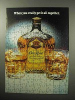 1987 Seagram's Crown Royal Whiskey Ad - All Together