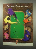 1987 Seagrams's Seven Crown Whiskey Ad - Eight Ball