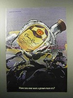 1987 Seagram's Crown Royal Whiskey Ad - Man Cry?