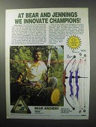 1987 Bear Bows Ad - Tamerlane III, Jennings T-Star XL