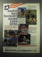 1987 Easton Aluminum Arrows Ad - Finest Bowhunters