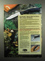 1987 Case Blackhorn Knives Ad - Basic Difference