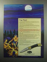 1987 Case Shark Tooth Knife Ad - The Test