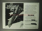 1987 Ka-Bar Knives Ad - Model #02-2792, #02-1230