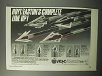 1987 Hoyt / Easton Archery Ad - Chuck-It, Black Hole