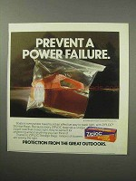 1987 Ziploc Storage Bag Ad - Prevent Power Failure