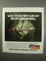 1987 Ziploc Storage Bag Ad - Save Your First-Aid Kit
