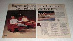 1985 Lane Recliners Ad - Get a Relaxing Vacation