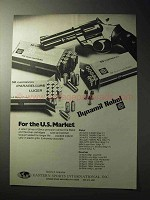 1977 Dynamit Nobel Geco Cartridges Ad - U.S. Market