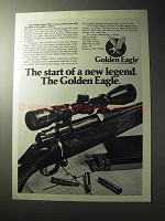 1977 Golden Eagle 7000 Rifle Ad - Start of a Legend