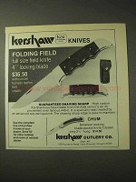 1977 Kershaw Kai Folding Field Knife Ad
