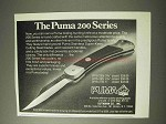 1977 Puma 200 Series Knife Ad