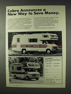 1976 Cobra Century Mini Home Ad - New Way to Save