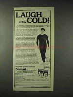 1976 Damart Underwear Ad - Laugh at the Cold