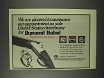 1976 Dynamit Nobel Ad - Shotguns, Rifles, Pistols