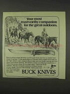 1976 Buck Knives Ad - Trustworthy Companion
