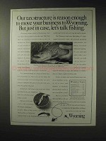 1993 Wyoming Tourism Ad - Our Tax Structure