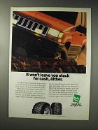 1993 Kelly Safari Radial Tires Ad - Stuck for Cash