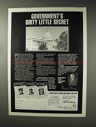 1993 Hillsdale College Ad - Government's Dirty Secret