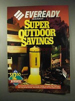 1993 Eveready Flashlights and Lanterns Ad