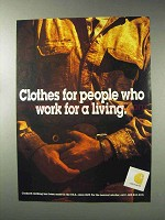 1993 Carhartt Clothing Ad - People Work For a Living