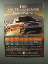 1993 Dodge Dakota 4x4 Club Cab Pickup Truck Ad