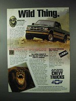 1993 Chevy Pickup Truck Ad - Wild Thing