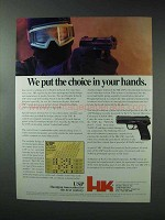 1993 Heckler & Koch USP Pistol Ad - Choice in Hands