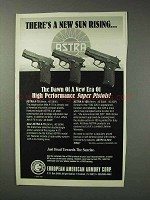 1993 European American Armory Astra Pistol Ad - A-100