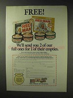 1992 Red Man Tobacco Ad - Send You 2 of Our Full Ones