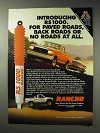 1992 Rancho RS 1000 Shocks Ad - For Paved Roads