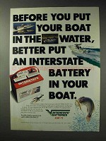 1992 Interstte Batteries Ad - Before Boat in the Water