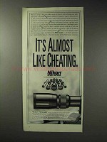 1992 Nikon Scopes Ad - It's Almost Like Cheating