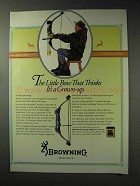 1992 Browning Micro Midas Bow Ad - Thinks It's Grown-Up